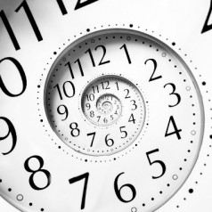 In time travel, does time run faster or slower?